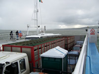 The Ferry across the Shannon River